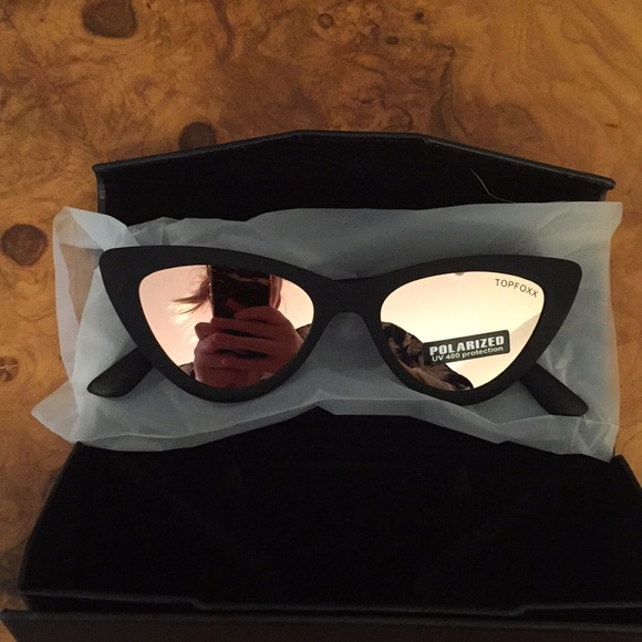 5fc18a4c8 Top Foxx Matte Black Polarized Cat Eye Sunglasses.  M_5b1c1a4ae944ba759e8c788b